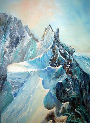 Painting - Rochfort Grat Mont Blanc Group by Christa Friedl