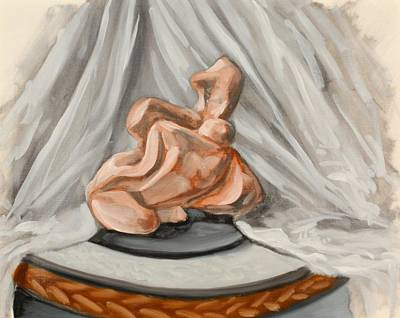 Alabaster Painting - Rock A Billy Sculpture Study by Michael Marcotte