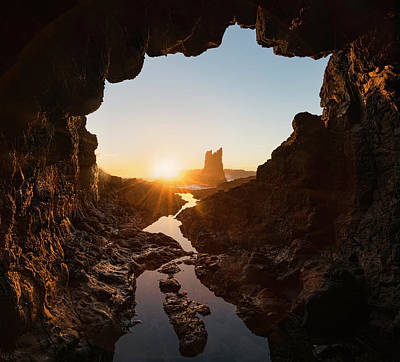 Cathedral Rock Wall Art - Photograph - Rock And Cave by Jingshu Zhu