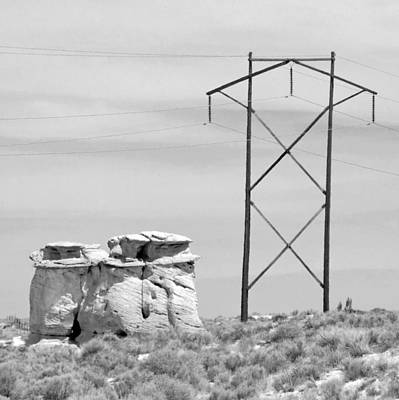 Photograph - Rock And Power Line by Julie Niemela
