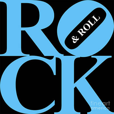Rock And Roll 20130708 Blue Black White Art Print by Wingsdomain Art and Photography