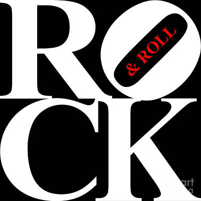 Rock And Roll 20130708 White Black Red Art Print by Wingsdomain Art and Photography