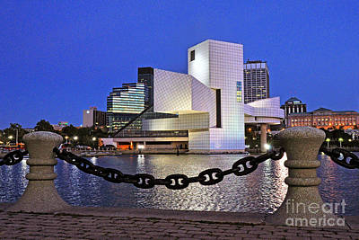 Sun Set Art Digital Art - Rock And Roll Hall Of Fame - Cleveland Ohio - 1 by Mark Madere