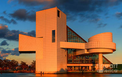 Art Print featuring the photograph Rock And Roll Hall Of Fame by Jerry Fornarotto