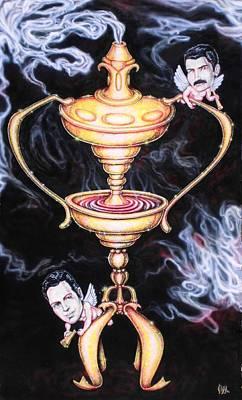 Joe Strummer Painting - Rock And Roll Heaven Funeral Ash Burner One by Vince Plzak