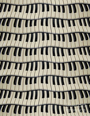 Rock And Roll Piano Keys Art Print