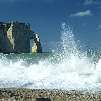 Rock Arch. Etretat. Seine-maritime. Normandy. France. Europe Art Print by Bernard Jaubert