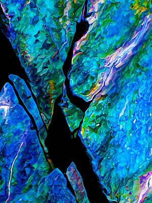 Digitally Manipulated Photograph - Rock Art 18 by ABeautifulSky Photography by Bill Caldwell