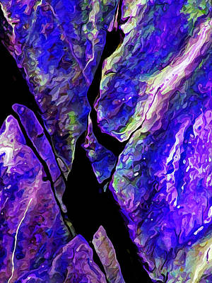 Digitally Manipulated Digital Art - Rock Art 19 by ABeautifulSky Photography