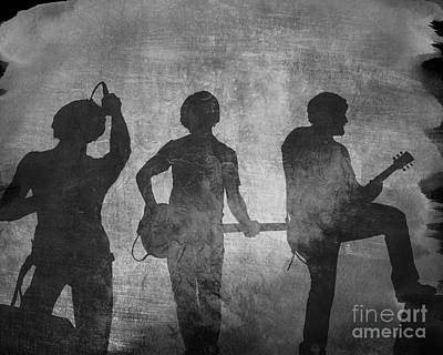 Guitar Player Digital Art - Rock Band Shadows by Randy Steele