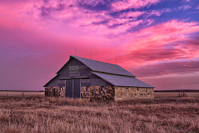 Abandoned Ranch Photograph - Rock Barn by Thomas Zimmerman