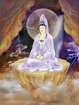 Rock Cave Avalokitesvara  Print by Lanjee Chee