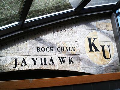 Rock Chalk Ku Art Print by Paul Ganser