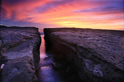 Rock Channel Sunset Art Print by Scott Cunningham