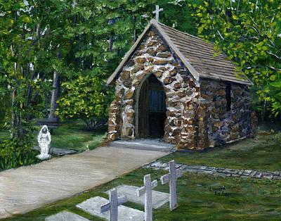 Painting - Rock Chapel Louisiana Church by Lenora  De Lude