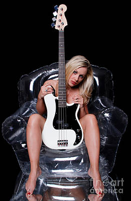 Nude Woman Guitar Photograph - Rock Chic by Jt PhotoDesign