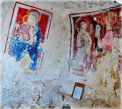 Photograph - Rock Church Paintings by Caroline Stella