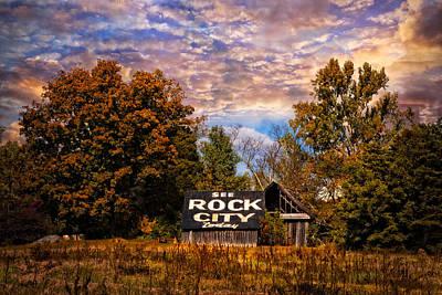 Rock City Barn Art Print by Debra and Dave Vanderlaan