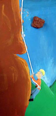 Painting - Rock Climber by Jera Sky