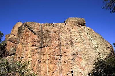Bob Clark Photograph - Rock Climbing In Pinnacles National Park by Bob Clark