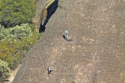 Photograph - Rock Climbing Pinnacles by SC Heffner