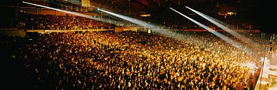 Rock Concerts Photograph - Rock Concert Interior Chicago Il Usa by Panoramic Images