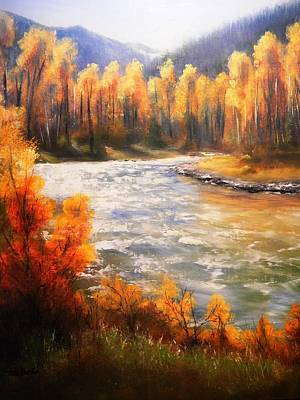 Painting - Rock Creek Autumn by Patti Gordon
