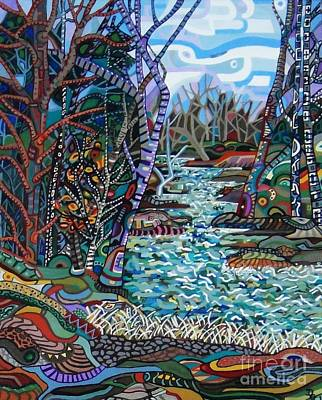 Painting - Rock Creek by Deborah Glasgow