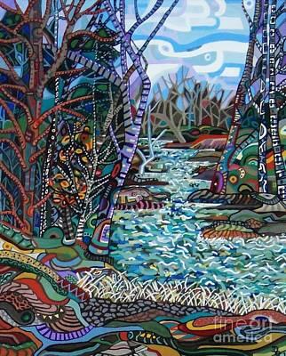 Painting - Rock Creek by Deborah Glasgow