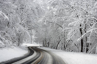 Winter Roads Photograph - Rock Creek Park by Unknown