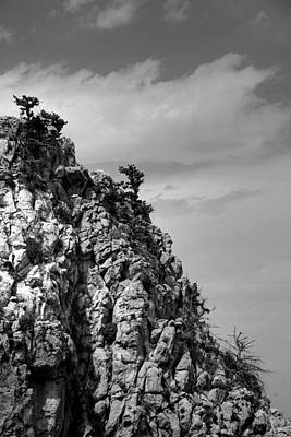 Art Print featuring the photograph Rock Face At St. Hillarion by Jim Vance