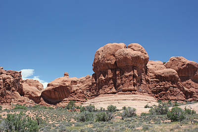 Photograph - Rock Formation 5 Arches National Park by Mary Bedy