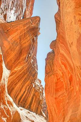 Photograph - Rock Formation In The Siq by David Birchall