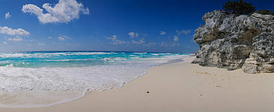 Cancun Photograph - Rock Formation On The Coast, Cancun by Panoramic Images