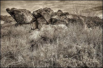 Photograph - Rock Outcrop Sears Kay Ruins by Roger Passman