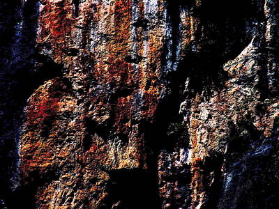 Photograph - Rock Formation - Three Gorges - Horizontal by Jacqueline M Lewis