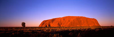Uluru Photograph - Rock Formation, Uluru, Uluru-kata Tjuta by Panoramic Images