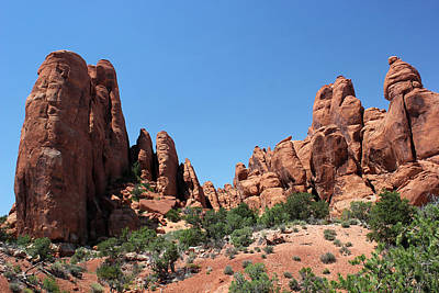 Photograph - Rock Formations 10 Arches National Park by Mary Bedy