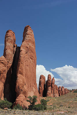 Photograph - Rock Formations 11 Arches National Park by Mary Bedy