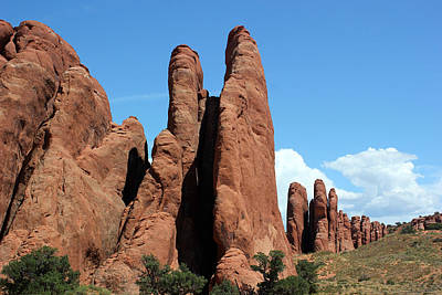 Photograph - Rock Formations 12 Arches National Park by Mary Bedy