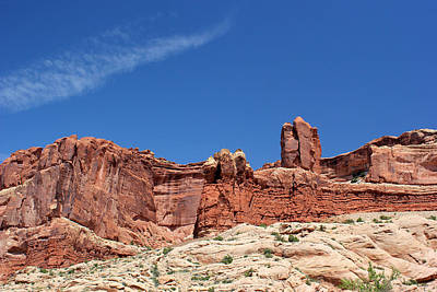 Photograph - Rock Formations 3 Arches National Park by Mary Bedy