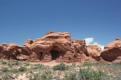 Photograph - Rock Formations 6 Arches National Park by Mary Bedy
