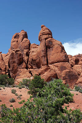 Photograph - Rock Formations 8 Arches National Park by Mary Bedy