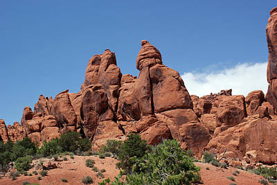 Photograph - Rock Formations 9 Arches National Park by Mary Bedy