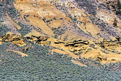 Rock Formations And Sagebrush Art Print