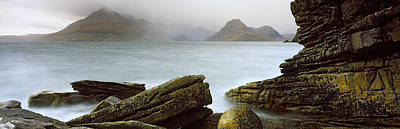 Elgol Photograph - Rock Formations At Coast, Black by Panoramic Images
