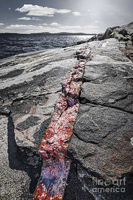Georgian Bay Photograph - Rock Formations At Georgian Bay by Elena Elisseeva