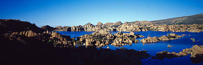 Granite Dells Photograph - Rock Formations At Lake, Granite Dells by Panoramic Images