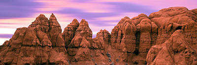 Kodachrome Basin Photograph - Rock Formations At Sunrise, Kodachrome by Panoramic Images