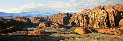 Snow Canyon State Park Photograph - Rock Formations At Sunrise, Snow Canyon by Panoramic Images